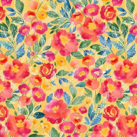52289-2 Yellow Veranda Veranda Windham Fabrics