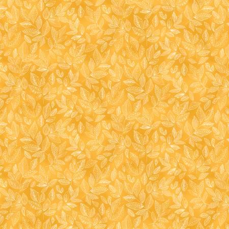 52291-2 Yellow Leaves Veranda Windham Fabrics
