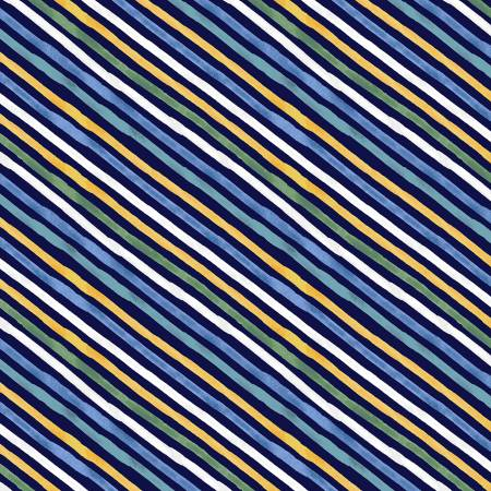 Navy Diagonal Stripe