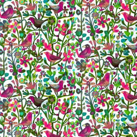 Alfie Fuchsia Jolly Robins Digital 52299D-1