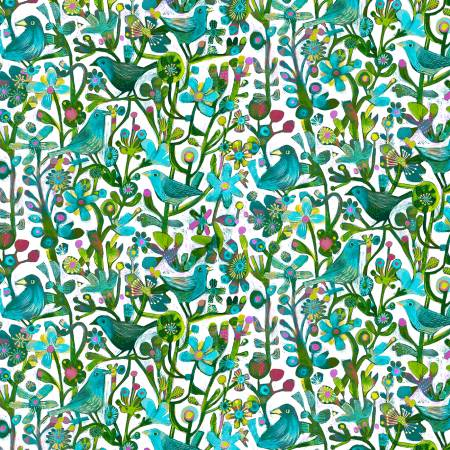 Turquoise Jolly Robins Digital