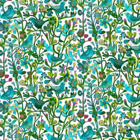 Alfie Turquoise Jolly Robins Digital 52299D-5