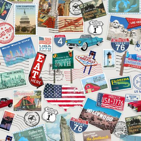 American Road Trip Multi Postcards