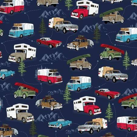 Blue Camper Trailers