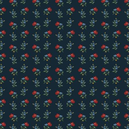 Camilla Navy Wallpaper Floral