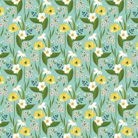 Aqua Happy Floral