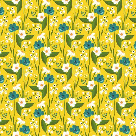 Cora - Yellow Happy Floral