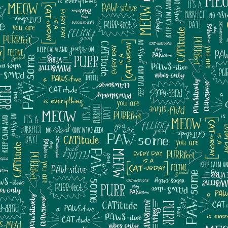 Teal Purrfect Words