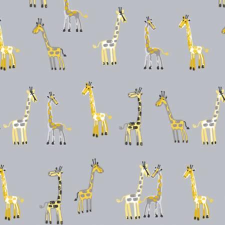Blue Giraffe Flannel