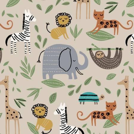 Elephant Flannel 52381-3 Beige
