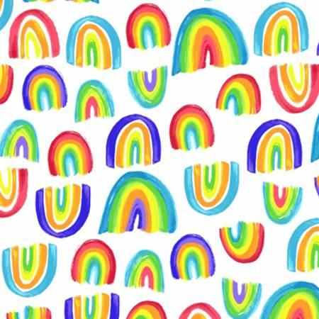 Rainbow Flannel 52382-1 White