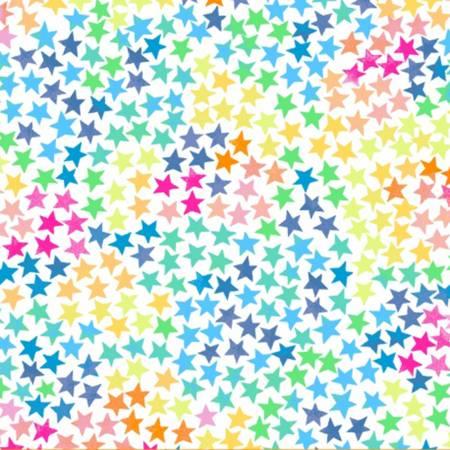 White Stars Flannel