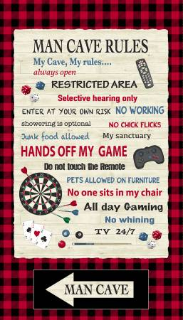 Man Cave - Rules Panel (Red)