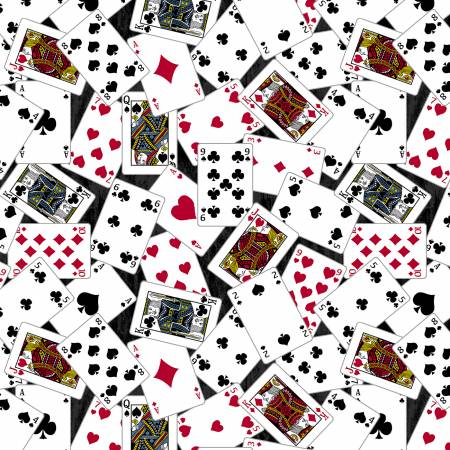 52411-2 Man Cave / Playing Cards - Charcoal