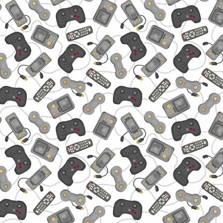 White Game Console Controllers