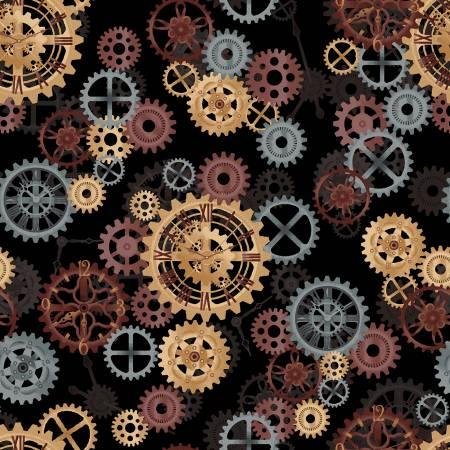Black Gears  by Windham Fabrics - 108in Wide Back