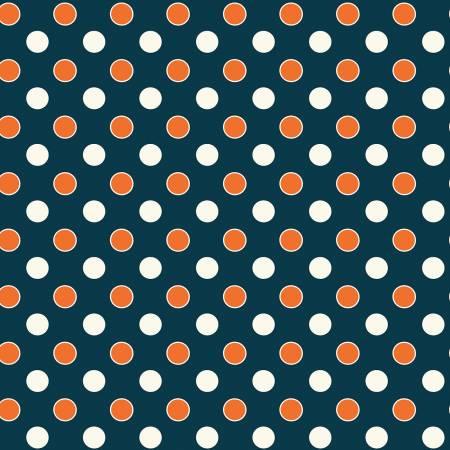 52485 2 Navy Dots Five + Ten by Desnyse Schmidt for Windham Fabrics. 100% cotton 43 wide