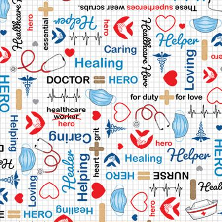 Calling All Nurses - Healthcare Hero - By Whistler Studios For Windham Fabrics