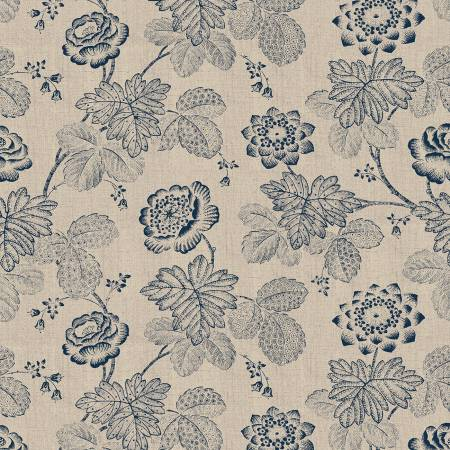 Willow 52564-2 Linen Stippled Floral