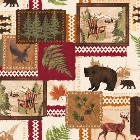 Black Bear Lodge 52602-1 Tan Black Bear Patch