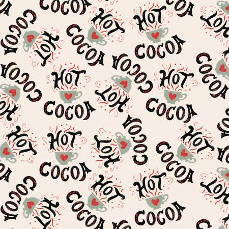 Multi Hot Cocoa Cups & Words Tossed