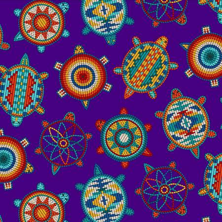 Tucson Turtles Purple 100% Cotton 42-44 Wide
