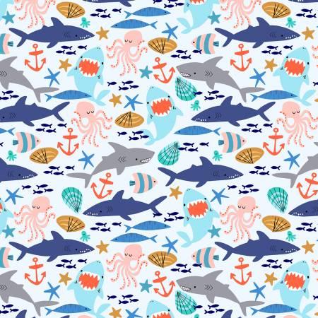 Sea Life Flannel - 52710-9