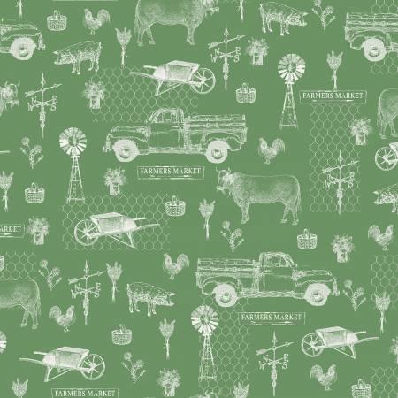 Farmers Market by Whistler Studios Farm Toile Green