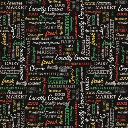 Farmer's Market Black Words