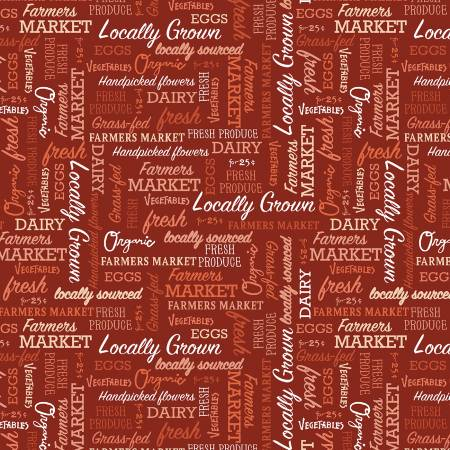 Farmers Market by Whistler Studios Words Red