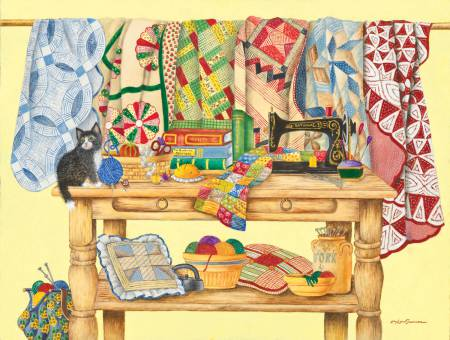 The Quilt Table Puzzle 500pc