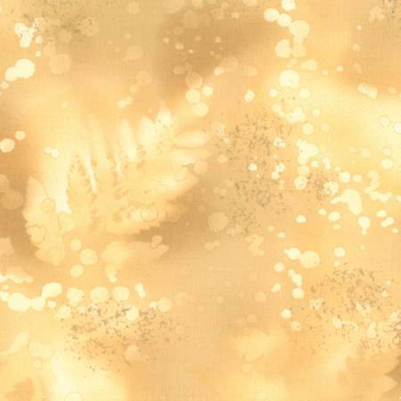 Fabric Benartex Gold Beige Fossil Fern