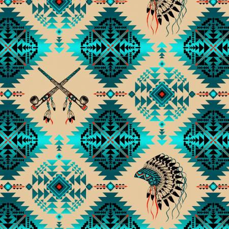 Native Spirit  turquoise squares
