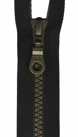 Brastique Decorative 1-Way Separating Zipper 24in Black