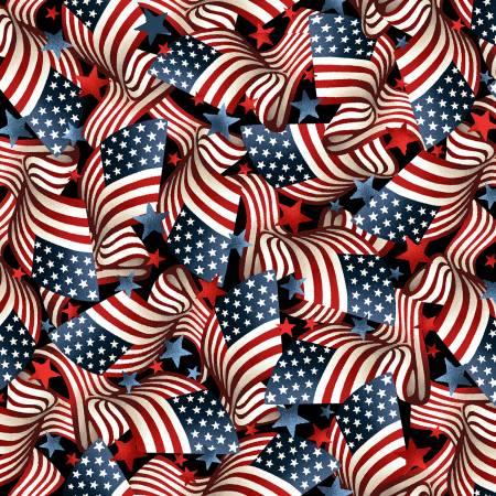 American Pride -wavy flag