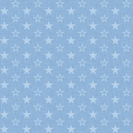 American Muscle Mini Stars on Light Blue Fabric by the yard