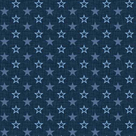 American Muscle Mini Stars on Navy Fabric by the yard