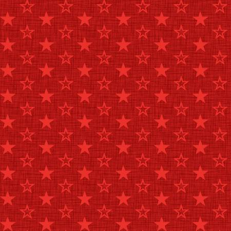 American Muscle Mini Stars on Red Fabric by the yard