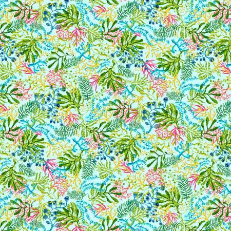 Blooming Ocean - Light Blue Seaweed