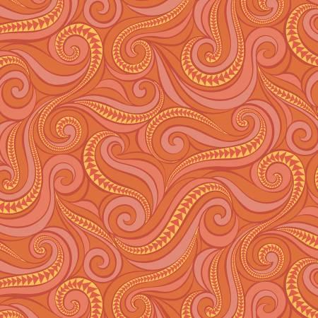 Free Motion Fantasy Flying Geese Orange