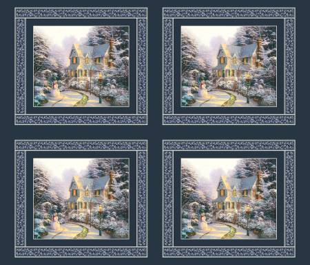 The Night Before Christmas Panel - Thomas Kinkade