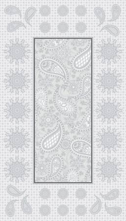 Silver Jubilee Embroidery Panel w/Metallic