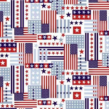 Patriotic Flag Collage Patriotic