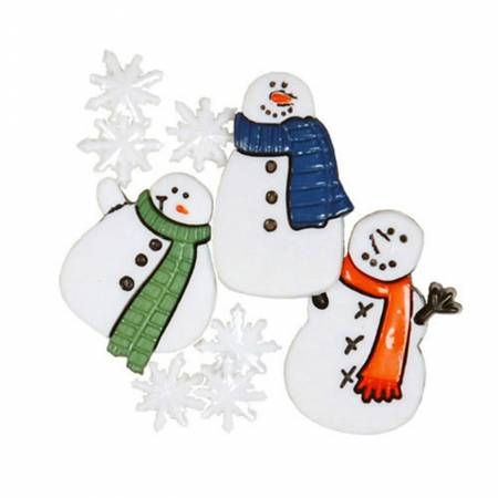 Button Pack Pk Snowmen 10pc