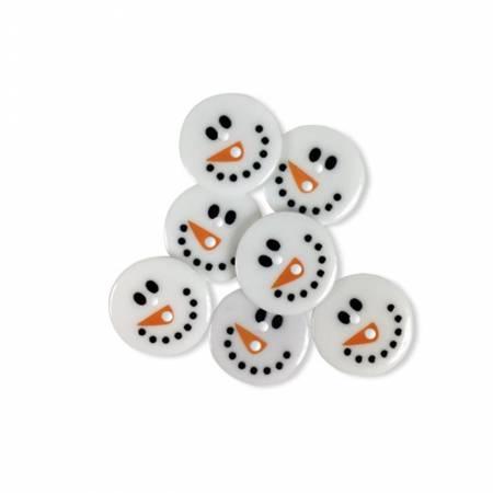 Button Pack Snowman Face 6pc