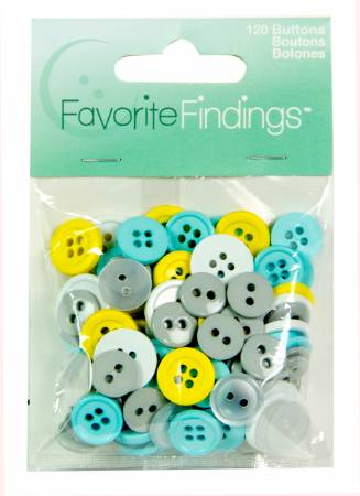 Button Value Pack Favorite Findings - 120 Buttons