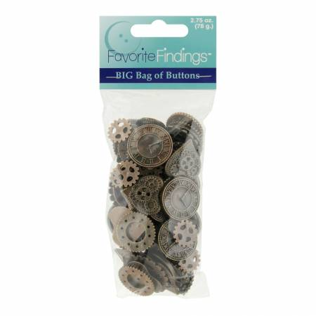 Favorite Findings Value Pack 275 oz 78g of Steampunk Buttons
