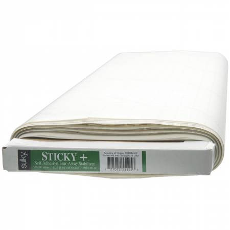 Sticky Plus Self-Adhesive Tear-Away Stabilizer White 22 1/2in x 25yds