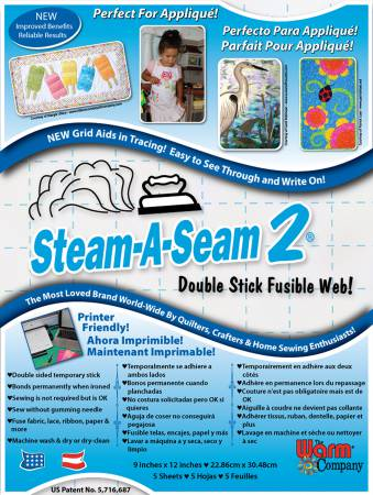 Steam A Seam 2 9in x 12in 5ct