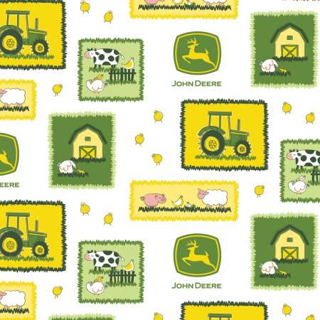 John Deere Farm Scene Patches